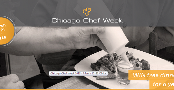 Chicago Chef Week starts Sunday! (2014)
