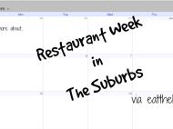 Suburban Restaurant Week
