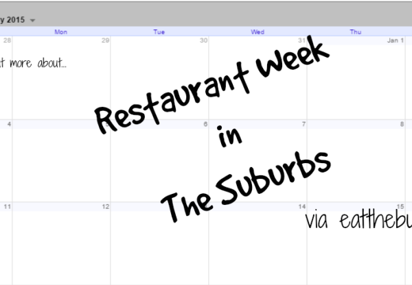 Several Chicago Suburbs do Restaurant Week (2015)