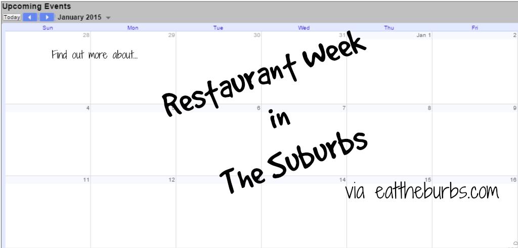 Several Chicago Suburbs do Restaurant Week (2015)