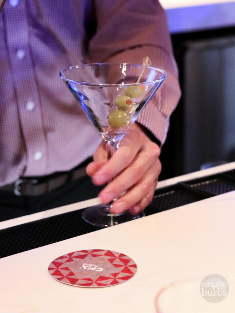Dirty Martini at CMX Marble Bar